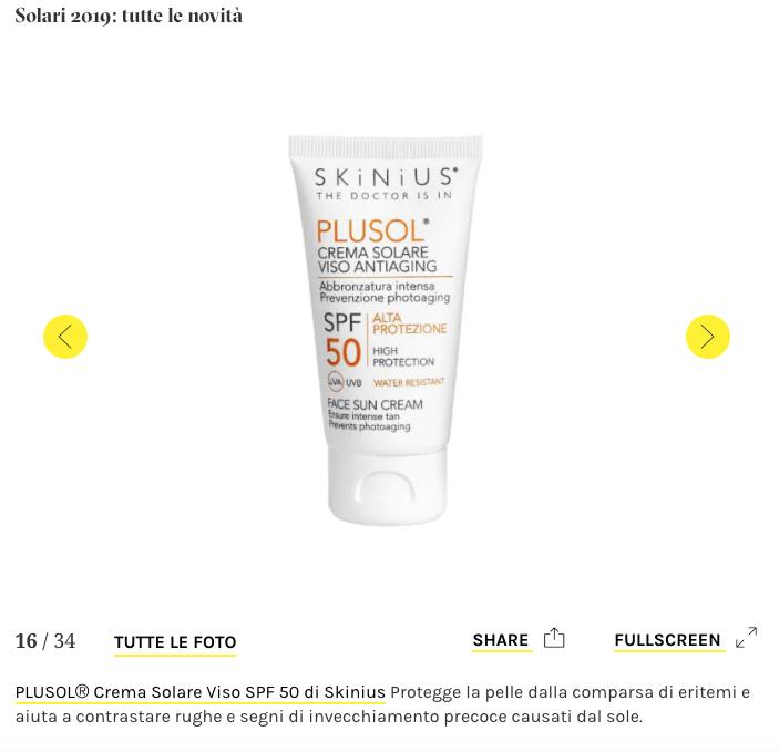 PLUSOL crema solare viso antiaging
