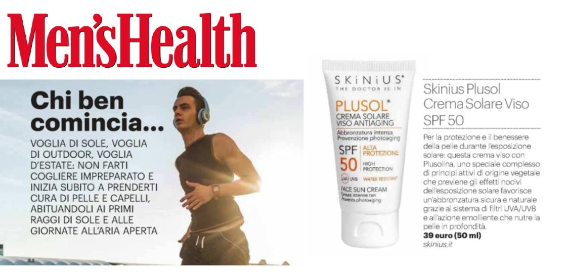 PLUSOL crema solare viso opinioni men's health