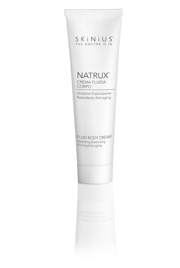 Per idratare il corpo i millennials possono utilizzare la crema corpo rassodante Natrux di Skinius