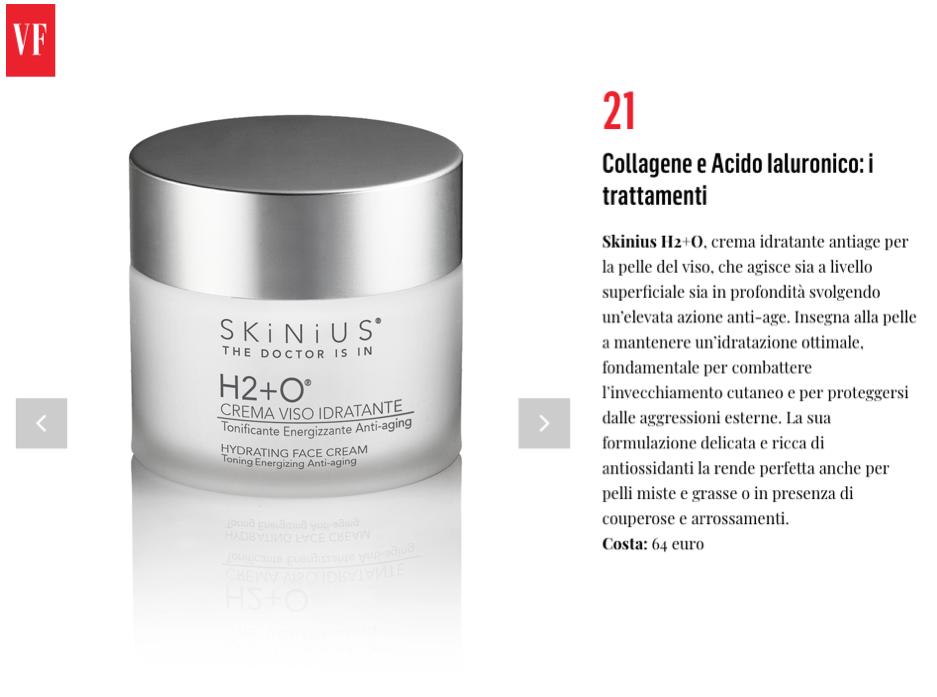 H2+O crema viso di Skinius su Vanity Fair